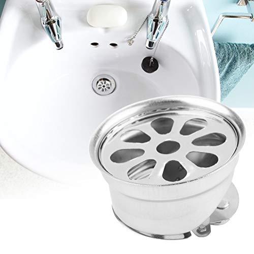 Buen drenaje de piso, piso de baño con acero inoxidable fuerte y resistente cabello muerto (plata)