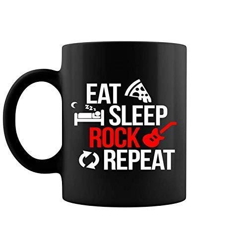 AOOEDM Eat Sleep Rock, regalo para músicos, rockero, guitarrista, taz