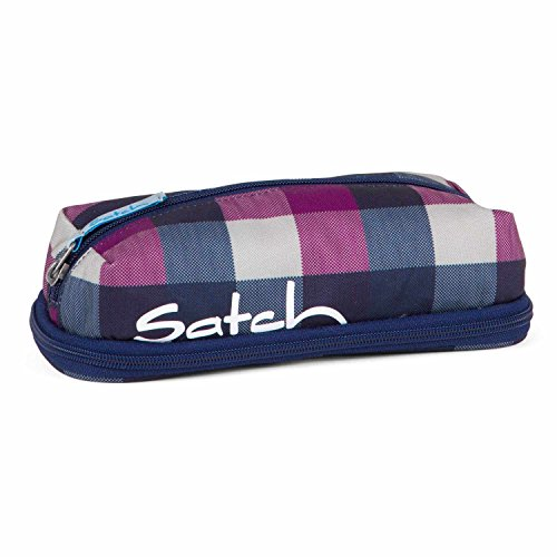 SATCH Berry Carry Federmäppchen, Karo Lila Blau
