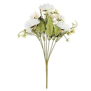 Zaofahua Artificial Flowers,1 Bouquet Camellia Artificial Peony Rose Flowers Vivid Wedding Supplies Real Touch Home Decoration Desktop Decor