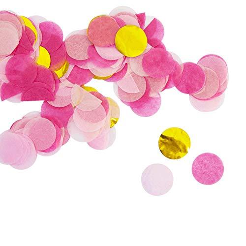 Oblique Unique® Papier Konfetti Pink Gold Rosa Tisch Streu Deko für Geburtstag Party Hochzeit Feier JGA Junggesellinnenabschied