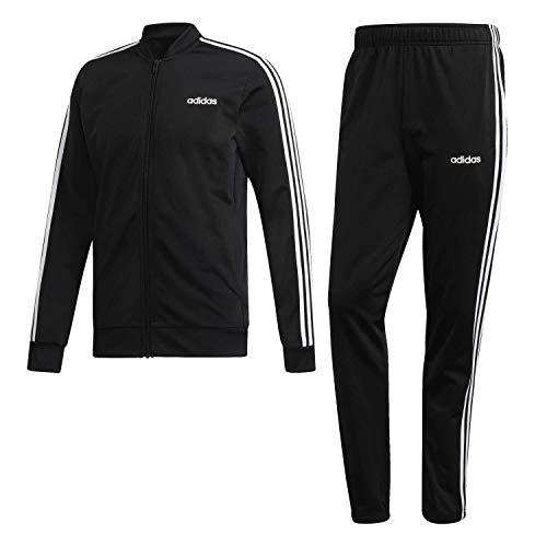 adidas Essentials 3-Stripes Track Suit Chándal, Hombre, Negro (Black/Black/White), S