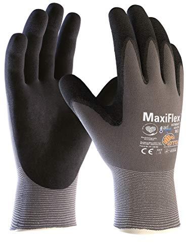 ATG 42-874/09 Maxiflex Ultimative Arbeitshandschuhe, dünne Nitrilschaum-Beschichtung, 9 - L, grau