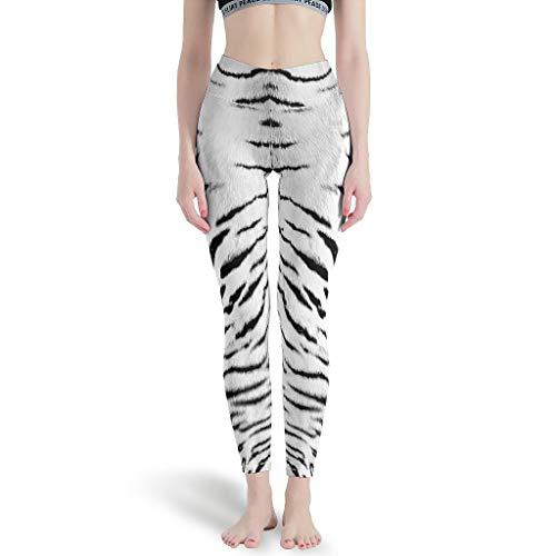 Huffle-Pickffle Pantalones de yoga Ti-ger S-kin, divertidos, modernos, multicolor, pantalones de jogging para yoga, color blanco, 2XL