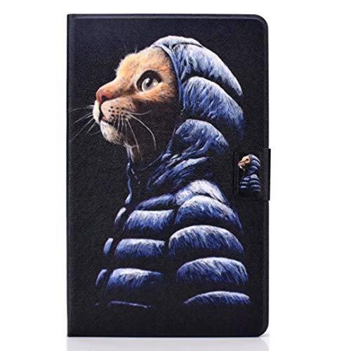 Case voor nieuwe iPad Pro 11 2020 met potloodhouder, Premium lederen Folio Stand Shell Smart Cover met Auto Sleep/Wake Zachte TPU Bumper Slim Lichtgewicht Beschermhoes voor iPad Pro 11 2020 iPad Pro 11 2020 Kleine gele kat
