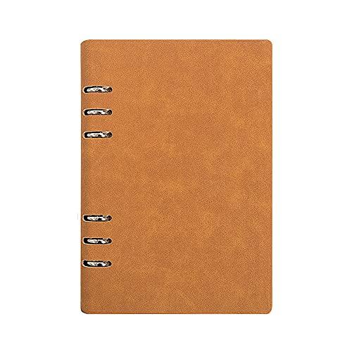JUGTL Cuaderno Para A5 Actas De Reuniones De Hojas Sueltas Ruled Diario Trabajo De Papelería Engrosamiento Empresarial Libreta Notas Naranja A5 165MMX231MM