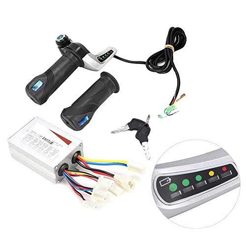 Controlador de motor, Fydun caja de controlador de motor cepillado 36V 800W con empuñadura del acelerador para bicicleta eléctrica Scooter E-Bike