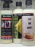 Agua de arroz+champú de arroz+crema de arroz perfecto para el tratamiento de pérdida de cabello, le devolvemos el dinero garantizado.