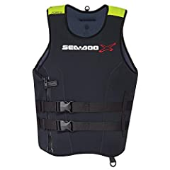 Color: Black Ultra-durable neoprene outer shell Soft PVC foam inserts Anatomical cut with large armholes and strategically-placed mesh drain panels for riding comfort YKKl front zipper