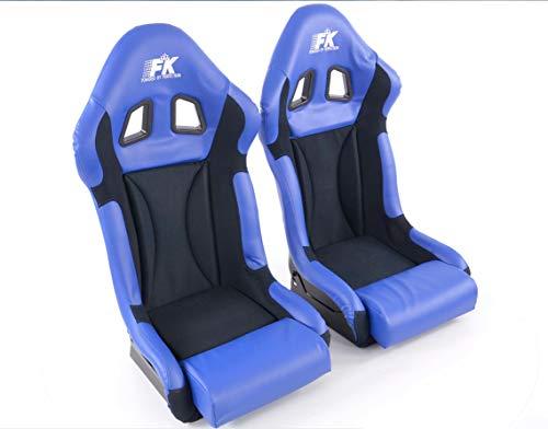 Paar Ergonomische prestaties FK Sportseat Auto emmer stoelen Set Race 1 met glans UV Glasvezel Cover