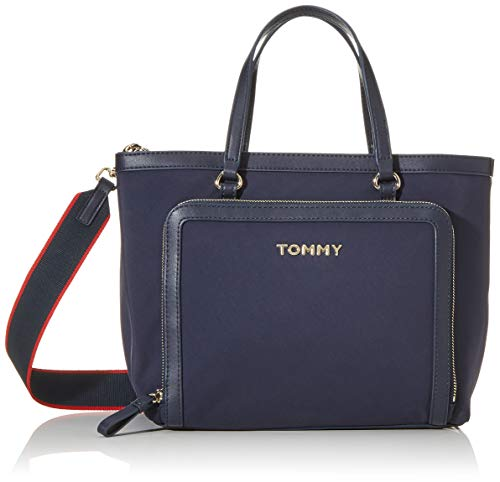 Tommy Hilfiger Damen Tommy Seasonal Satchel Rucksack, Blau (Corporate), 1x1x1 cm