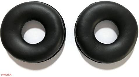 discount Leatherette Ear Pads for Plantronics, Jabra, VXI, BlueParrott, Smith Corona, wholesale Starkey, Sennheiser Headsets - 1 Pair online sale Soft Ear Cushions sale