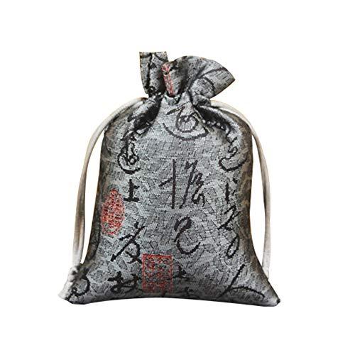 FOReverweihuajz Lot de 2 sacs de rangement avec cordon de serrage Motif calligraphie
