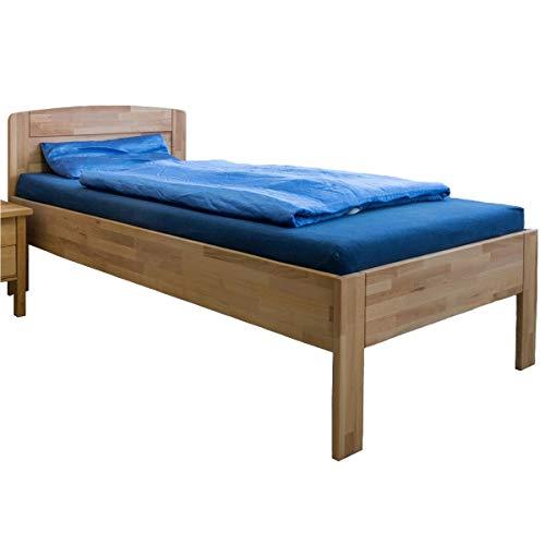 VAJA Möbel Massivholz Komfortbett Seniorenbett Kernbuche höhenverstellbar 100x200