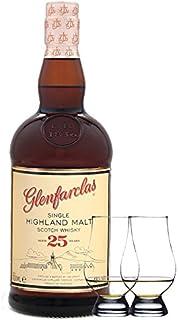 Glenfarclas 25 Jahre Single Malt Whisky 0,7 Liter  2 Glencairn Gläser