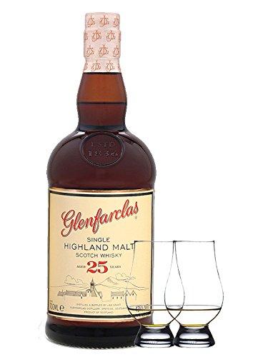 Glenfarclas 25 Jahre Single Malt Whisky 0,7 Liter + 2 Glencairn Gläser
