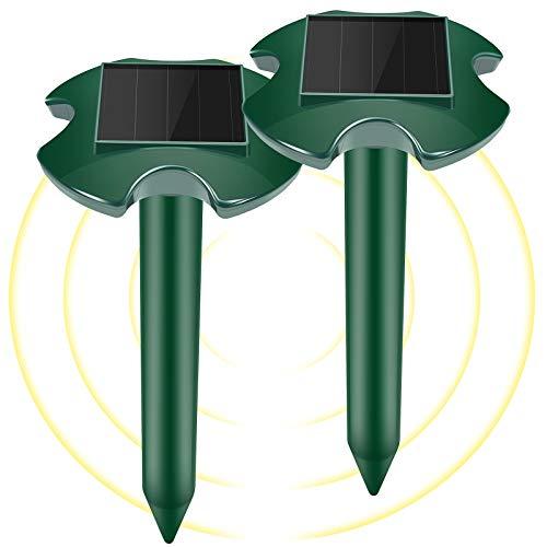 WloveTravel Repellente per Talpa Solare ad Ultrasuoni, 2 Pezzi Repellente Talpe Ultrasuoni Solare , Repellente per Talpa Vole Spaventato - Repellente per Topi e Serpenti (Verde)