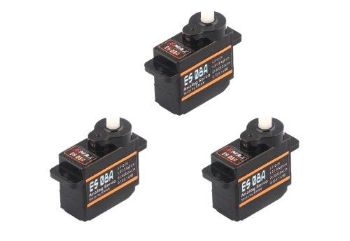 3x Emax ES08A Micro Servo 8g 0,1sec 1,8kg z.B. für Multiplex