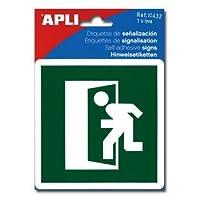 【APLI】サインステッカー 【非常出口】 (AP-10432)
