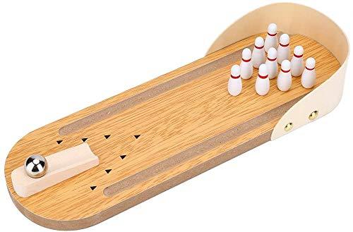 DGL Tisch Bowling Spielzeug Mini-Bowling Stress pädagogisches Spielzeug Eltern-Kind-Spiel Holzspielzeug Mini-Bowling-Set