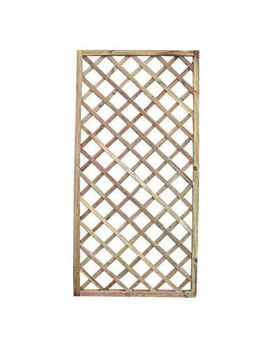 Jardin202 180 x 90 cm - Panel de Madera en celosía - Recto