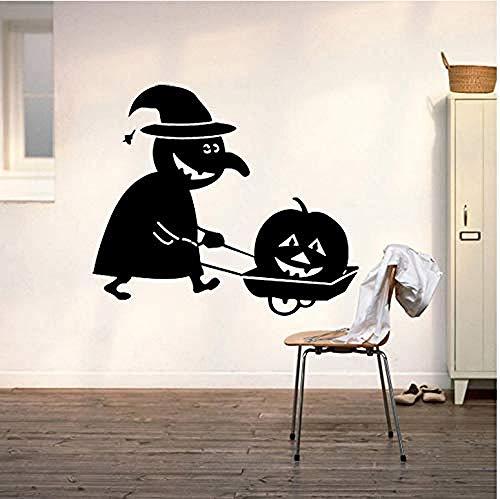 YFKSLAY Halloween Wandaufkleber Horror Tür Fenster Aufkleber Wallpaper Art Decals Home Decoration Raum Wandkunst 55X51cm