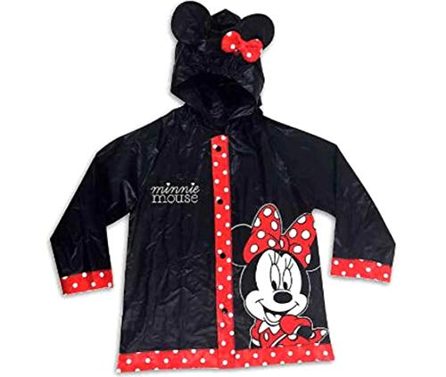 Disney Minnie Rain Poncho Coat Jacket Slicker 2T-4T Black