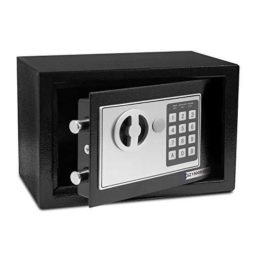 Tresor Safemaxx mit elektronischem Zahlenschloss • Möbelsafe Dokumentensafe Geldsafe • Mit Notfall-Schlüsseln • Wandsafe Einbausafe inkl. Montagematerial • 6 Größen (5 Liter, 17 x 23 x 17 cm)