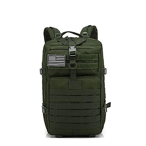 LVLUOKJ Großer taktischer Rucksack 45L, wasserabweisendes Oxford 900D-Material, Herren Rucksack mit Mehreren Taschen für Outdoor-Trekking, Camping, Bergsteigen (Color : ArmyGreen)
