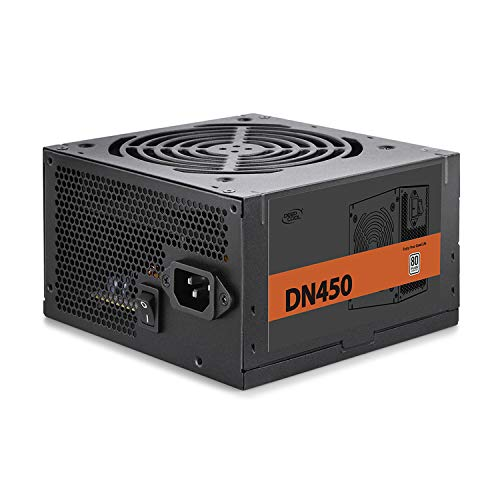 Deepcool DN450 450W Alimentatore Atx Pc Desktop da Gaming 450 Watt 80 Plus 230V EU con Ventola PWM da 120 mm PFC Attivo
