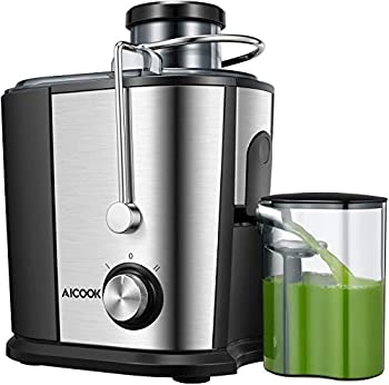 Juicer Wide Mouth Juice Extractor Juicer Machines BPA Free Compact Fruits & Vegetables Juicer Dual Speed Centrifugal Juicer with Non-drip Function Stainless Steel Juicers Easy to Clean