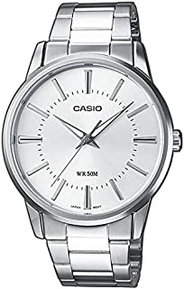 Casio Casual Watch for Men, Stainless Steel Band, Analog