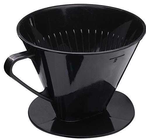 Westmark Kaffeefilter/Filterhalter, Für bis zu 2 Tassen Kaffee, Filtergröße 2, Kunststoff, Two, Schwarz, 24422261