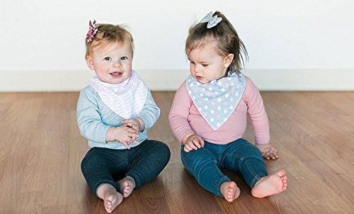 Baby-Lätzchen für Mädchen, 4er Pack Auslaufsichere Babylätzchen, Süße Lätzchen aus Weicher, Saugfähiger Baumwolle und Wasserundurchlässiger Auskleidung, Halten Sie Ihr Baby trocken - 6