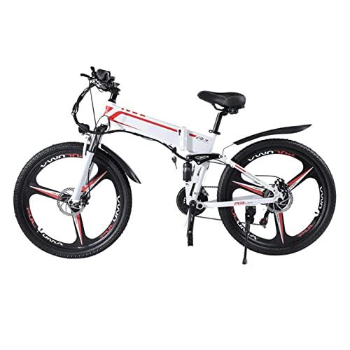 Bicicleta eléctrica X- 3 para adultos plegable 250W/ 1000W 48V batería de litio bicicleta de montaña bicicleta eléctrica 26 pulgadas bicicleta eléctrica ( Color : White , tamaño : 250W Motor )