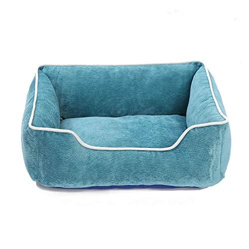Cuccia per cani rimovibile e lavabile, tappetino in velluto a coste per animali domestici, resistente all'usura e resistente ai morsi, cuccia in cotone 3dpp multicolore