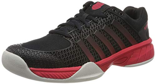 K-Swiss Performance Herren Express Light Carpet Tennisschuhe, Schwarz (Black/Lollipop/Gull Gray 072-M), 40 EU