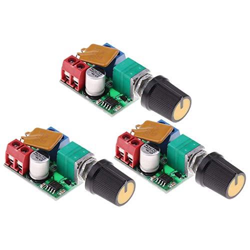 YUXIwang Controlador de velocidad 3 unids 3 V 6 12 V 24 35 V 5A DC Motor PWM controlador de velocidad para LED DIY