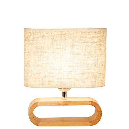 STER Lámpara de Escritorio, lámpara de Escritorio Simple Minimalista con Pantalla de Tela de Lino para Dormitorio, Sala de Estar, Mesa de Centro, Oficina, Mesa de Comedor