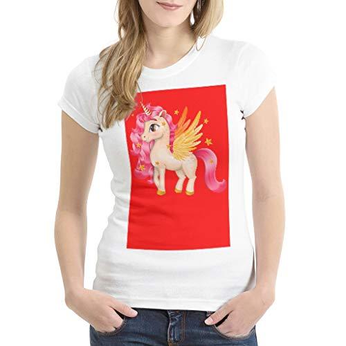 Rinvyintte Leicht Mehrere Muster Kurzarm Basic T- Hemd für Freundin oder Familie red 2X-Large