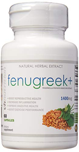 Fenugreek+ | 1400mg Capsules | 60 Capsules Extract Powder