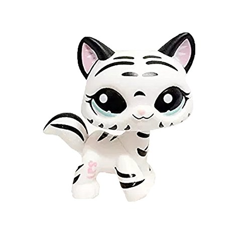 Meetsunshine LPS Toy,2.5 inches Rainbow Eyes Dog LPS Pet Shop Cream Toy Party Decorations Brown