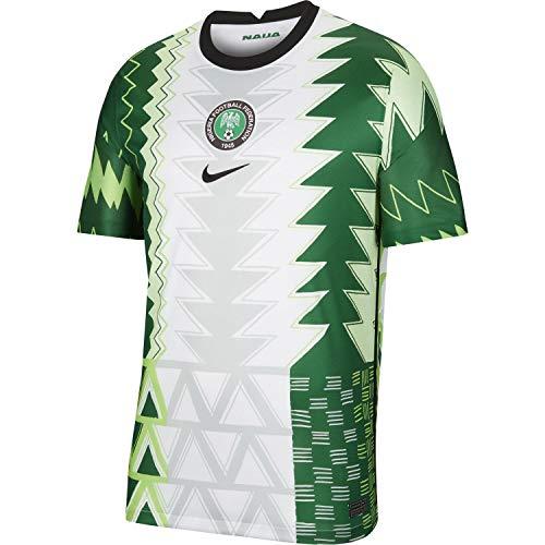 Nigeria Home Stadium 2020-21 - Camiseta, CT4225-100_XL, verde-blanco, X-Large