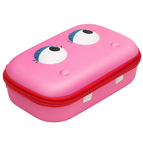 ZIPIT Beast Pencil Box for Kids, Cute Storage Case for School Supplies, Holds Up to 60 Pens, Secure Zipper Closure, Machine Washable (Pink)