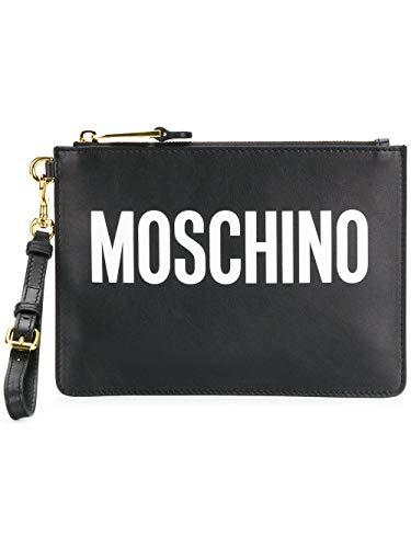 Moschino Luxury Fashion Donna A841580011555 Nero Pelle Pochette |...