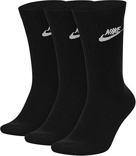 Nike Essential Crew Socks, Pack of 3 - Black - Medium