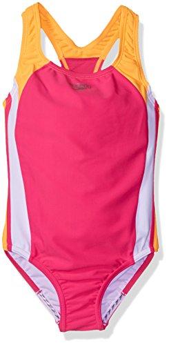 Speedo Girls Infinity Splice One Piece Swimsuit, Size 16, Electric Pink