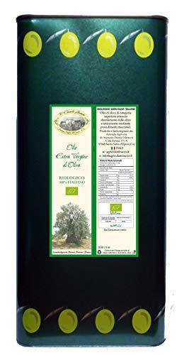 Olio Extravergine di Oliva Biologico 100% Italiano 1 Latta da 5 Lt