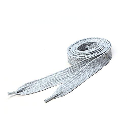 Underground Kulture Lacets de Skate - Argent 11mm x 120 cm (Flat Silver Shoelaces)