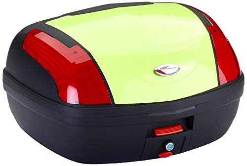 A-Pro Top Case Box 46 LT Universal Quick Rlease Motorcycle Luggage Fluo High-Vis